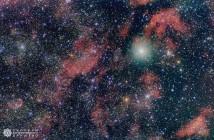 Мноштвото маглини во соѕвездието Лебед. Авторски права: Мартин Стојановски