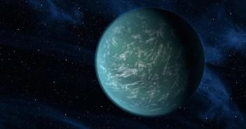 Концепција на автор која ја илустрира Кеплер-22б, планета за која е познато дека удобно кружи во зоната погодна за живот околу ѕвезда слична на нашето сонце. Благодарност до НАСА / Ames / JPL-Caltech
