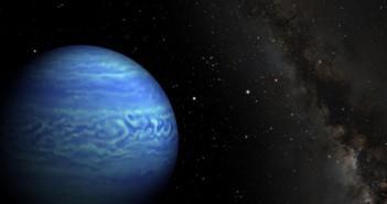 Уметничка перспектива која го покажува објектот WISE JO85510.83-071442.5, кој претставува најладното откриено кафено џуџе. Заслуги: Пен Стејт Универзитетот/НАСА/Калтек