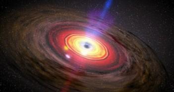 Уметнички приказ на материја која кружи околу црна дупка. Извор: NASA/Dana Berry/SkyWorks Digital