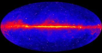 Гама зраци сминени од телескопот Ферми во рок од пет години.