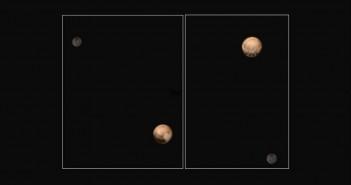 Плутон и неговата месечина Харон. Заслуги: НАСА