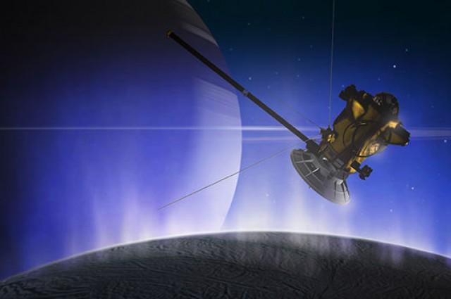 Уметничка фотографија на летот на Касини. Извор: НАСА/ЈПЛ