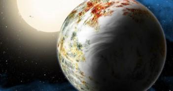Илустрација на Кеплер 10ц. Огромен кандидат за карпеста планета кој најверојатно ќе биде засенет од новооткирената БД+20594б. Извор: Harvard-Smithsonian Center for Astrophysics/David Aguilar
