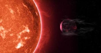 Фотографија 1: Ѕвездата ја разнесува атмосферата на својата планета. Извор: Питер Девајн.