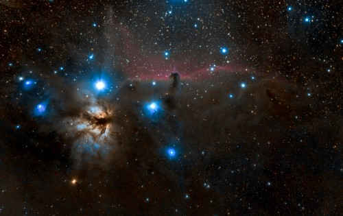 Barnard33 / NGC2024 – Маглините Коњска глава и Пламен