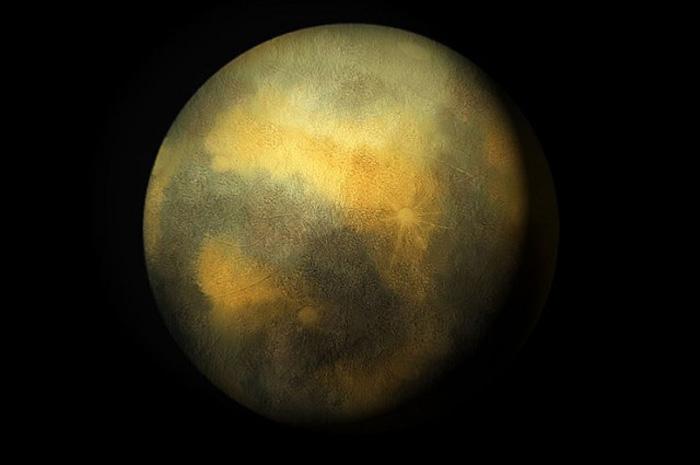 Уметничка фотографија на Плутон. Извор: C m handler.
