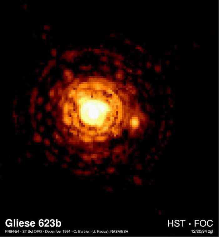 Gliese 623b. Извор: hubblesite.org