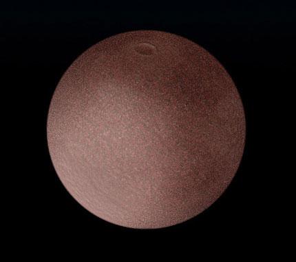 Уметнички приказ на (136472) Макемаке (претходно позната како 2005 FY9). Извор: Хабл