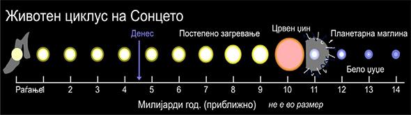 Животниот циклуц на Сонцето