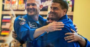 Exp40 on ISS group hug