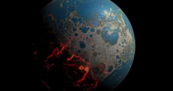 Удари од џиновски астероиди на Земјата во раните фази од нејзиното формирање