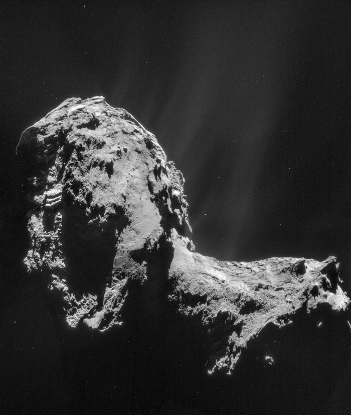 Розета со нов мозаик од фотографии од кометата
