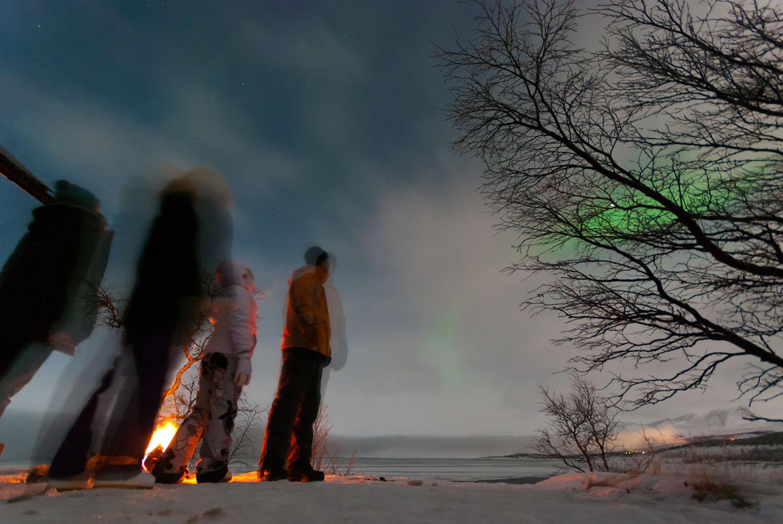 Ја бркаме аурората со погледот. Авторски права: Софија Спировска
