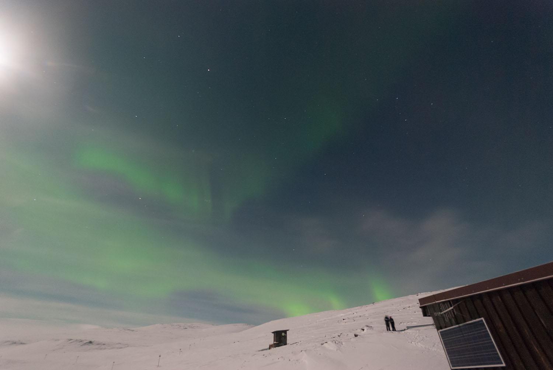Три зелени снопа како да извираат од планината! Авторски права: Софија Спировска