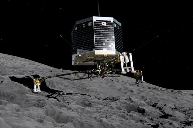 Извадок од анимација за слетувањето на Филе. Заслуги: ESA/ATG medialab