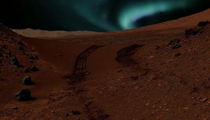 На Марс постои аурора, за која се знае како изгледа