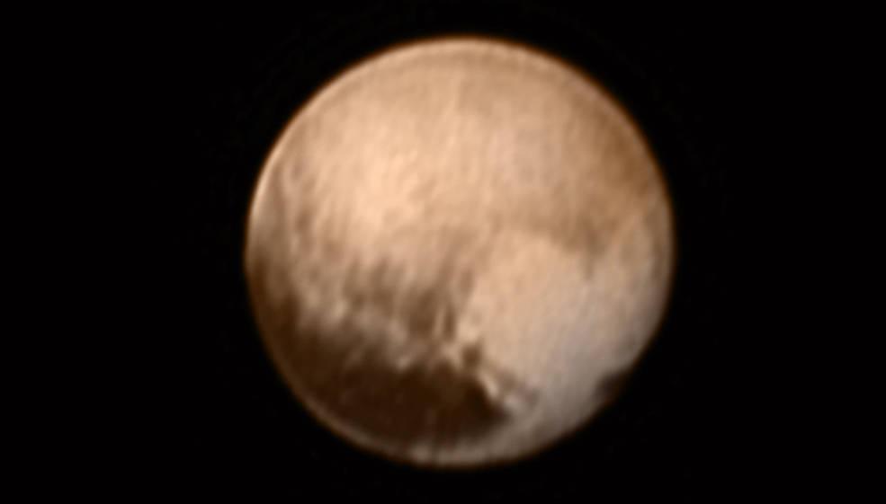 Осветлено срце на Плутон