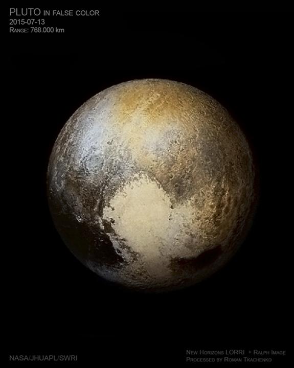 Најдобра фотографија на Плутон во лажни бои