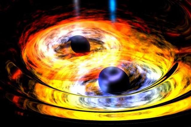 Забележано е спојување на две супермасивни црни дупки
