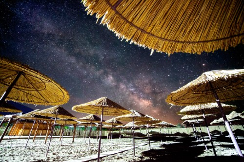 Ноќното небо над Преспа