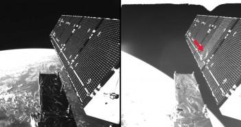 Дел од вселенски отпад направи дупка во европскиот сателит