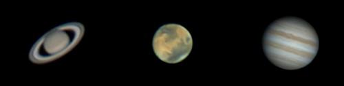 Сатурн, Марс и Јупитер