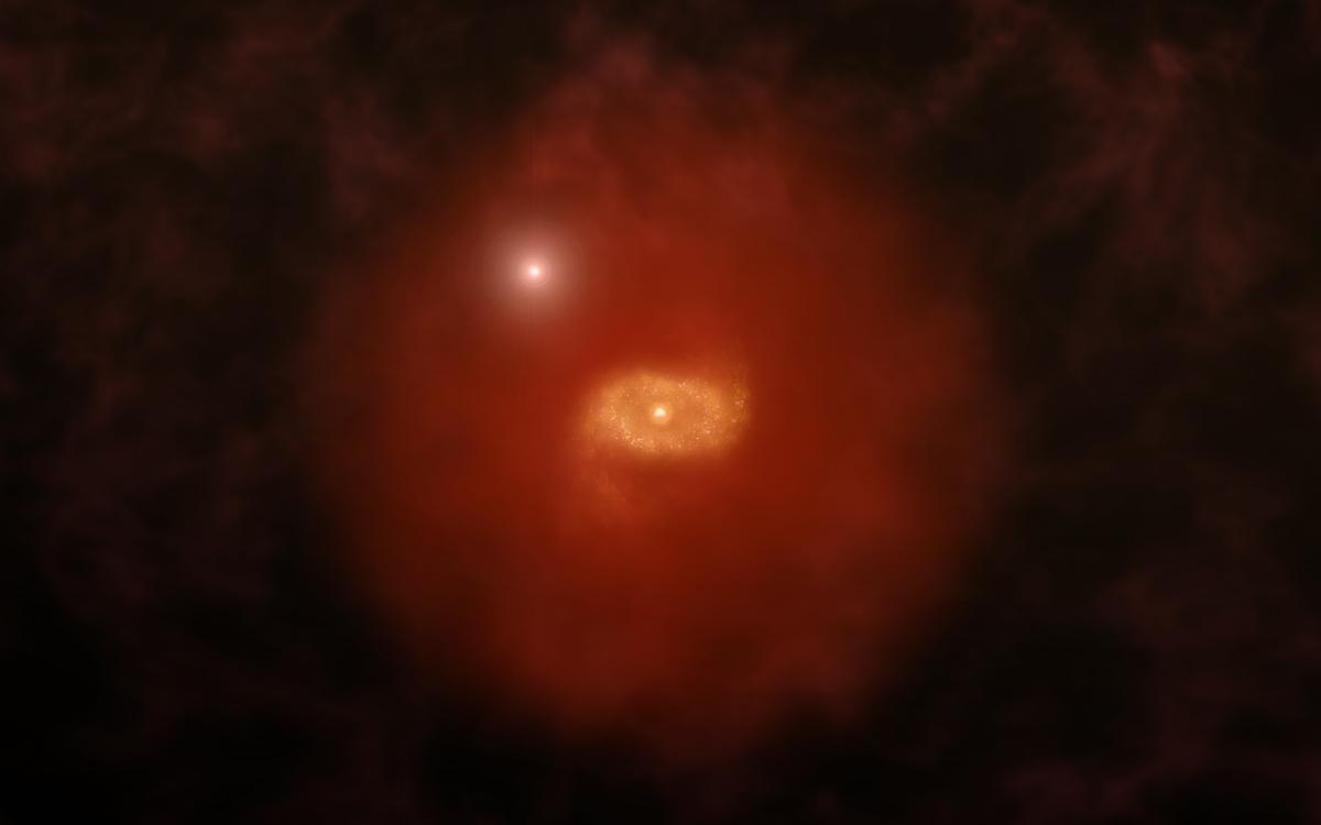 Галаксии слични на Млечниот Пат набљудувани во раните фази