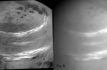 Група облаци прелетуваат над Титан