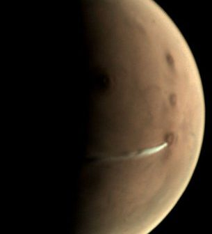 Марс Експрес набљудува облак на црвената планета