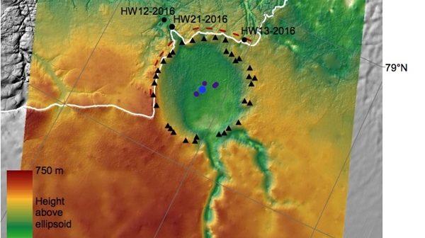 Огромен судирен кратер под Гренланд би можел да објасни климатски промени во леденaтa доба